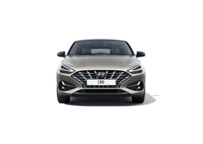 The new Hyundai i30 Fastback pictured from the front.